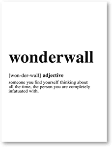 Giclee Wonderwall Print Modern Minimalist Poster Dictionary Canvas Painting Picture for Living Room Home Decor Wall Art 20x25 cm/7.8