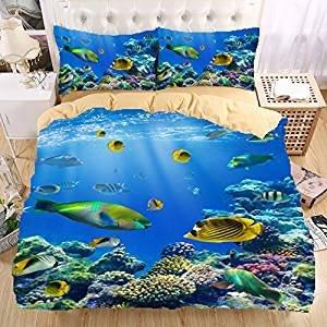 Underwater World 3d Bedding Set Print Duvet Cover Set Beautiful