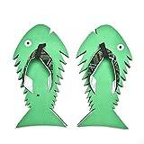Fish Flip Flops Summer Beach Sandals Shower Slippers Non-Slip Funny Beach Shoes Wear For Women Men 6-11