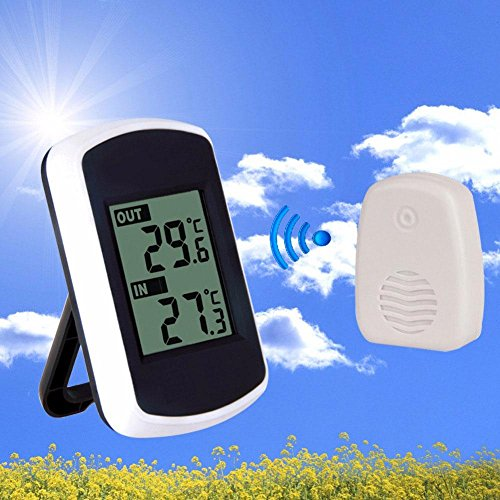 Cordless Indoor Outdoor Thermometer, Battery Powered Indoor Outdoor Thermometer with 100 Foot Range, Accurate Room Thermometer Indoor Outdoor Temperature Monitor with Remote Transmitter By Aolvo by Aolvo (Image #7)