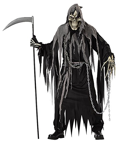 [Men's Mr. Grim Reaper Costume (One Size (Standard))] (Harry Potter Dementor Fancy Dress Costume)