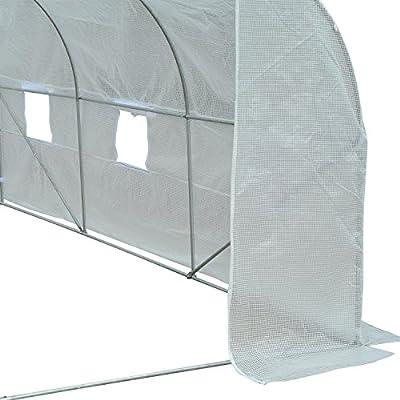 Outsunny 11' x 10' x 7' Portable Walk-in Garden Greenhouse - White