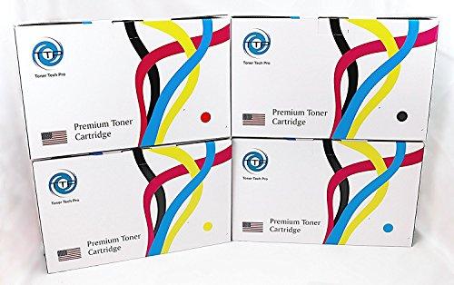 TTP-Toner Tech Pro Compatible Toner Cartridge Replacement for HP C9730A ( Cyan,Magenta,Yellow,Black , 4-Pack - Toner C9730a Black