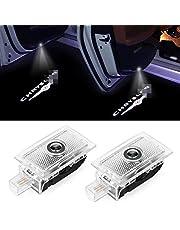 Car Door Logo Lights Projector LED Ghost Light 3D Shadow Lights for Mercedes Benz A/B/E/W176/W246/W212 Series Car Accesories Door Lights 4 Pack