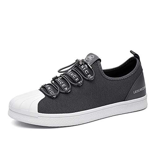 Canvas Shoes Men Lazy Shoes Loafers Harajuku Student Breathable Sneakers Casual Shoes Men Gray 7