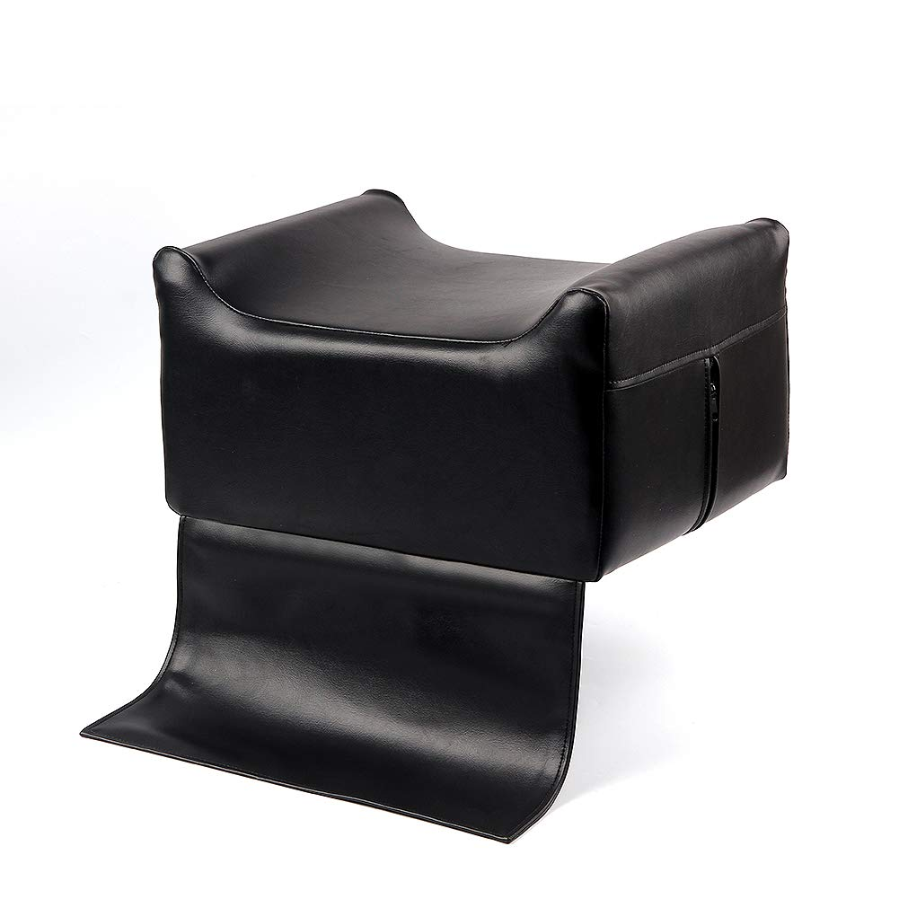 Black Leather Barber Beauty Salon Spa Massage Equipment Styling Chair Child Stools Booster Seat Cushion, High Chairs Auxiliary Heightening Seats Cushion for Baby & Kids