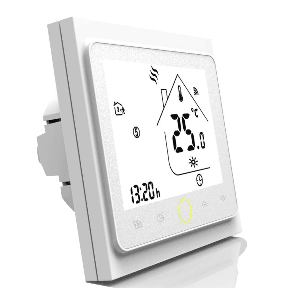 TTermostato programable Wifi para calefacció n individual de calderas de gas/agua Funciona con Alexa/Google Home 5A Contacto seco jiamiyun