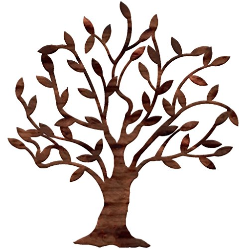 7055 Inc Artisan Dream Tree Metal Wall Art, Distressed Copper