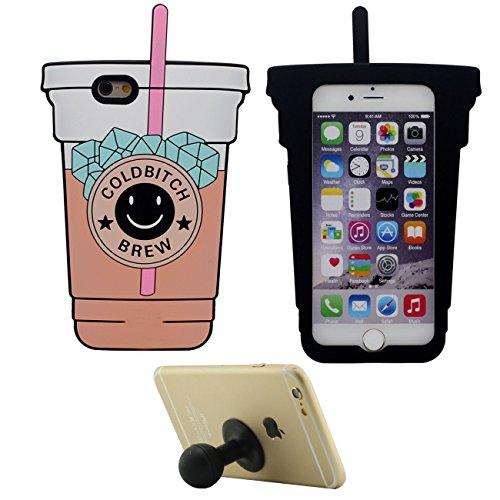 Coque Housse de Protection pour Apple iPhone 7 4.7 inch Doux Silicone Case Anti choc Coupe Forme Noir avec 1 Silicone Kickstand