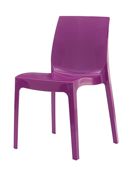 LEBER 2 x Silla Anna Resina Acabado Brillo Color Púrpura ...
