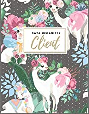 Client Data Organizer: Client Profile | Client Book For Hair Stylist | Client Data Organizer Log Book with A - Z Alphabetical Tabs | Personal Client Record Book Customer Profile Organizer | Salons, Beautician, Sales, Nail, Pretty Llamas.