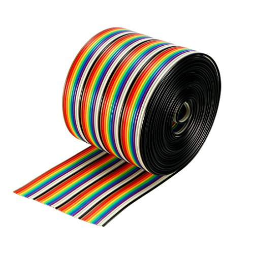 uxcell Ribbon Cable 40P Jumper Wire 1.27mm Pitch 3 Meters Long
