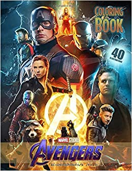 Amazon Com Avengers Endgame Coloring Book Coloring Books For