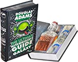 Mini-Bar Hollow Book with Flask & Shot Glasses - The Ultimate Hitchhiker's Guide to the Galaxy (Leather-bound) (Magnetic Closure)