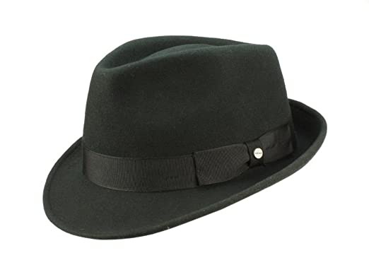 Stetson Elkader Fedora Hat X Large Black at Amazon Men s Clothing store  4b26dc1dbac