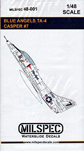 MilSpec Decals CAMMS48001 1:48 Blue Angels TA-4 Skyhawk Casper #7 [WATERSLIDE Decal Sheet]
