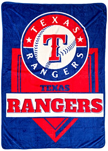 The Northwest Company MLB Texas Rangers Royal Plush Raschel Throw, One Size, Multicolor