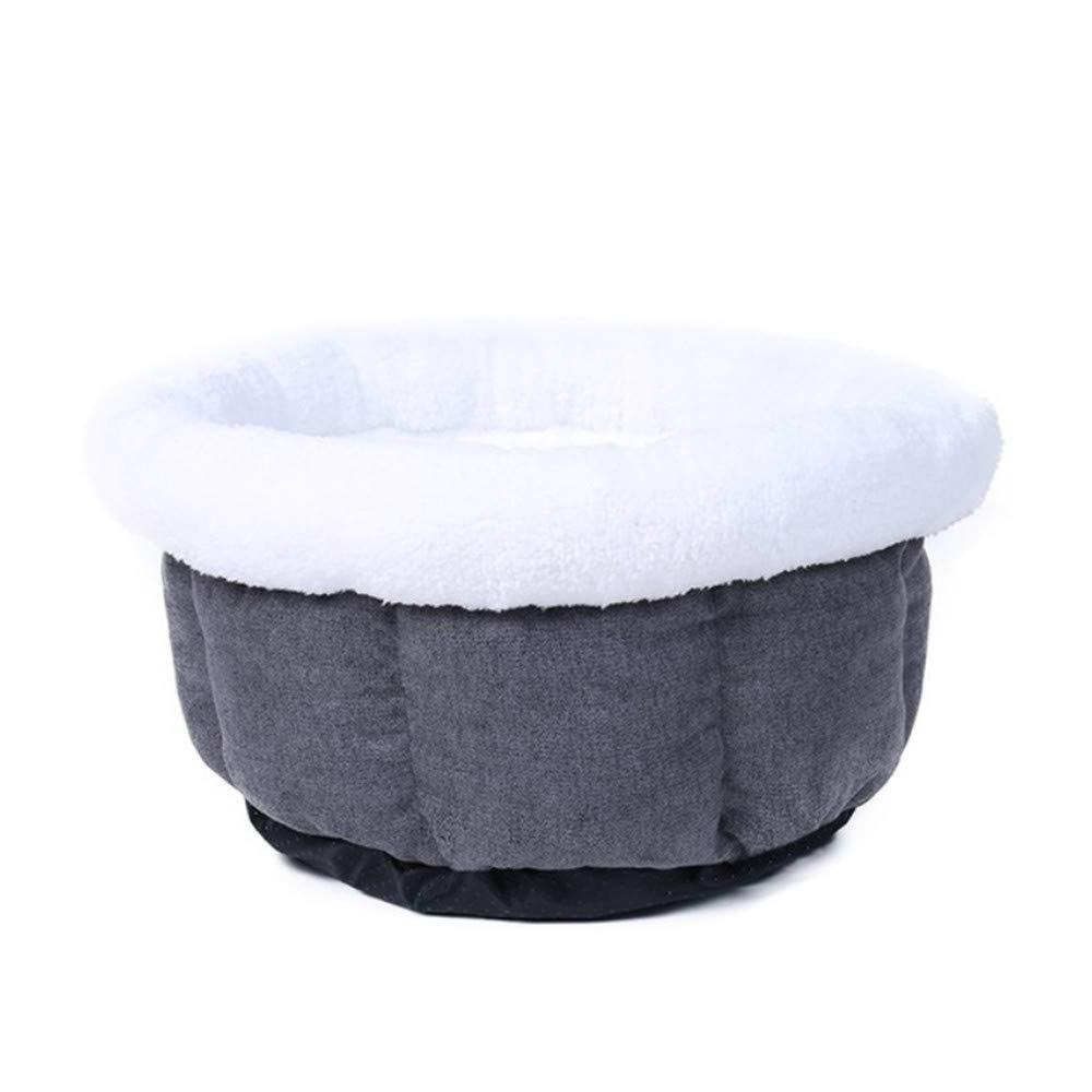 Wuwenw Round Cat Dog Bed Winter Warm Soft Puppy Puppy Sleeping House Mat Nest Kennel Antideslizante   Cat Sofá Cama Pet House Dog Basket, Gris