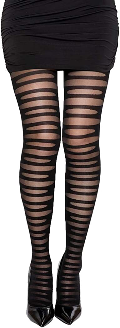 Rosemarie Collections Womens Halloween Costume Black Cut Out Detail Pantyhose Tights