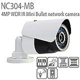 Hikvision(OEM) 4MP POE IP Camera 4mm Lens NC304-MB(DS-2CD2042WD-I) Network Bullet Camera English Version.