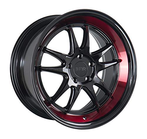 18x8.5 F1R F102 Black Red Lip Wheel/Rim Bolt Pattern(5x112) Offset (42) Part Number(F10218855112GBR42)
