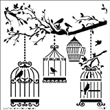 The Crafter's Workshop Mini Birds of a Feather Template, Black/ White by The Crafter's Workshop