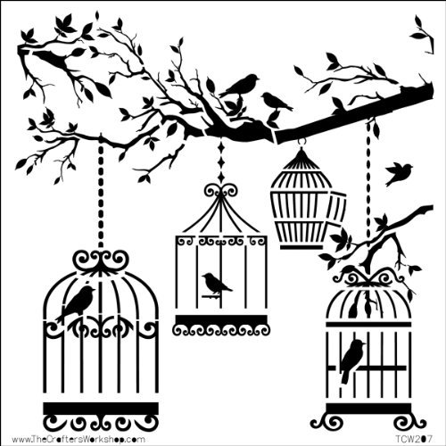 The Crafter's Workshop Mini Birds of a Feather Template, Black/ White by The Crafter's Workshop by CRAFTERS WORKSHOP