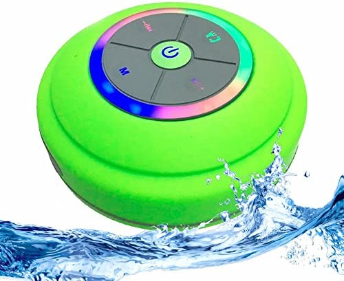 IPX4 Bluetooth waterproof wireless speaker with color-changing LED lights