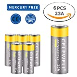 CELEWELL 6 Pack A23 Battery 12V Alkaline 23A MN21 23AE L1028 for Doorbell Alarm Garage Door Openers Remote EXP 2020