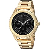 GUESS Women's Stainless Steel Android Wear Touch Screen Smart Watch, Color: Gold-Tone (Model: C1002M3)