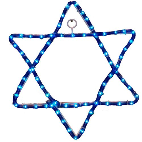 Outdoor Lighted Star Of David in US - 6