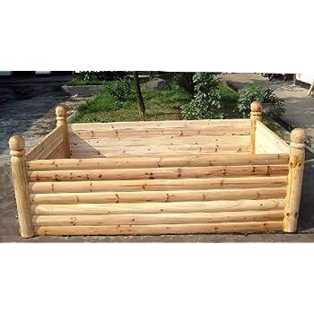 Amazoncom master garden products 4 posts cedar log wood for Master garden products