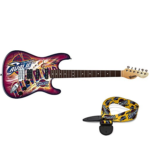 Cleveland Cavaliers NBA ''Northender'' Electric Guitar with Strap by Woodrow