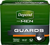 "Health & Personal Care : Kimberly Clark Depend Guard for Men 12"" L, Adhesive Strips, Maximum Absorbency (Box of 52 Each)"