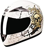Studds Scorpion D3 Full Face Helmet (Matt White, XL)