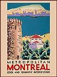 Metropolitan Montreal Vintage Canada Canadian Travel Poster