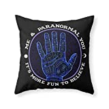Society6 Me & Paranormal You - James Roper Design - Palmistry (white Lettering) Throw Pillow Indoor Cover (20'' x 20'') with pillow insert