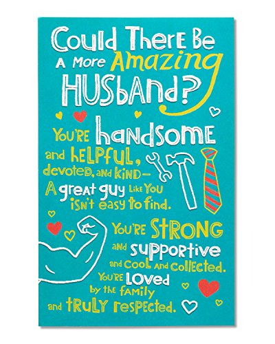 American Greetings Carried Away Father's Day Card for Husband with Embossing (5873438)