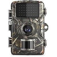 Abarich Cámara de Caza 16MP 1080P con Diseño Impermeable IP66,38 LED Negros infrarrojo,Gran Angular de 120°,Cámara de…