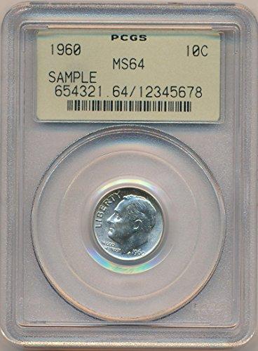 1960 P Roosevelt Silver Dime MS64 PCGS