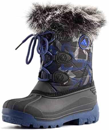 Nova Mountain Boy's and Girl's Waterproof Winter Snow Boots