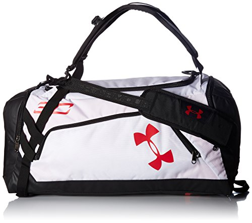 Under Armour SC30 Storm Contain Duffle,White (100)/Red, One Size