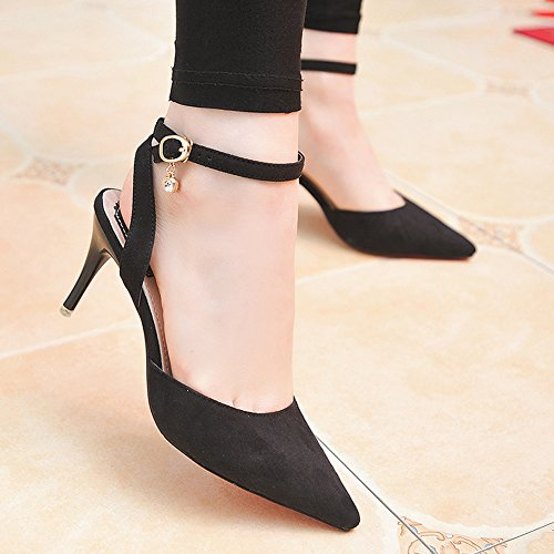 Ruiren Mariage De Fête Haut Noir Cheville Strap Talon Sandales Chaussures Femmes Soirée qwxHOqAg