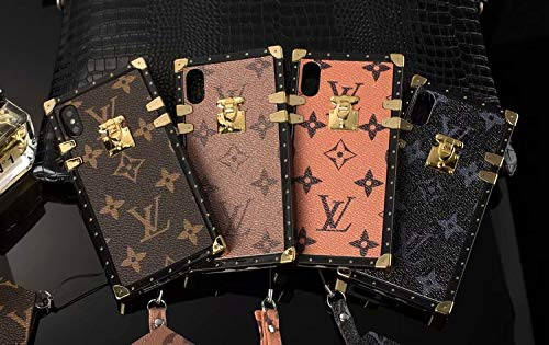 - Case for iPhone Xs Max, TPU Trunk Monogram Case Vintage Luxury iPhone Xs Max Case with Lanyard