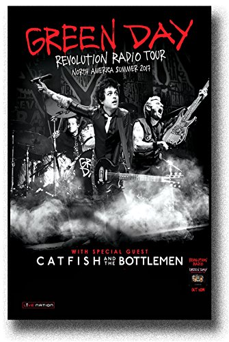 Green Day Poster - 11 x 17 - Flyer Size - 2017 Revolution Radio Tour Admat GreenDay North American