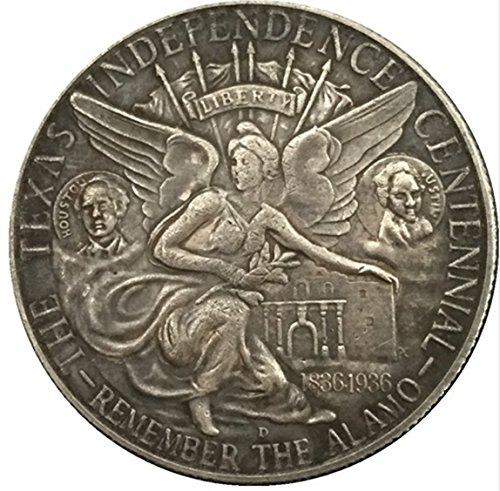 - Rare Antique United States America 1935 Half Dollar Texas Silver Color Coin