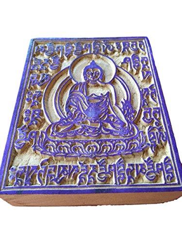 Hands of Tibet Handmade Tibetan Medicine Buddha (wood block) prayer flags