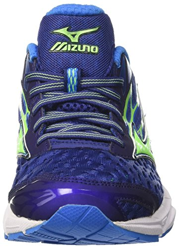 Mizuno Wave Catalyst, Scarpe da Corsa Uomo Multicolore (Blueprint/Green Gecko/Blue Aster)