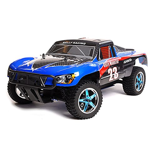 Rc Rally Game - Exceed RC Rally Truck Radio Car 1/10 2.4Ghz Electric Short Course Rally Monster RTR Ready to Run Off Road Rally Truck Carbon Blue RC Remote Control Car