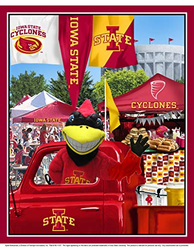 Iowa State University Cotton Fabric Panel with Tailgate Design-Sold by The Panel